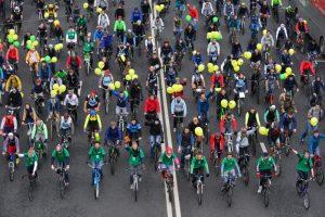 """На параде в Москве ожидается свыше 40 тысяч велосипедистов. Фото: """"Вечерняя Москва"""""""