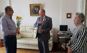 Сергей Носков поздравил ветерана войны с юбилеем. Фото: официальная страница Сергея Носкова в социальных сетях
