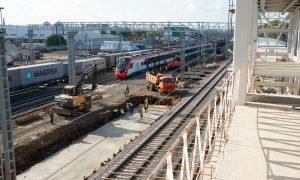 Первый этап реконструкции участка железной дороги Каланчевская — Курская планируют завершить к лету. Фото: сайт мэра Москвы